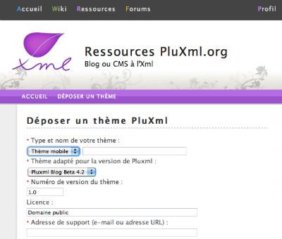 theme mobile pluxml