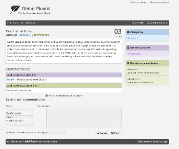 Thème PluXml defaut par Ti Pierre